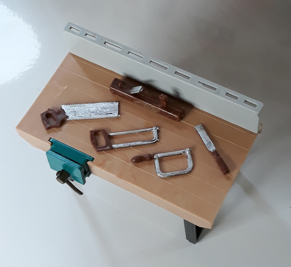 Triang Carpenters Bench and Tools
